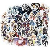 XXCKA Pegatinas de Chicas de Anime Sword Art Online Scrapbooking Pegatinas Pegamento Lindo Asna Kirito para teléfono Diario portátil calcomanía Pegatinas 50 Uds