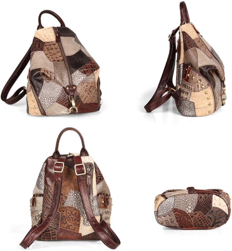 ZYSAJK Cobbler Legend Fashion Women's Backpack Vintage Leather Female Travel Bags Casual Shoulder Bag for Student/teenage