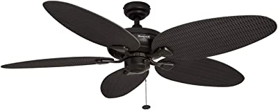 Honeywell Ceiling Fans 50201 Duval Damp Rated Indoor + Outdoor Ceiling Fan, 52, Oil Rubbed Bronze