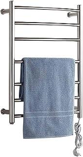 FREIHE Calentador de Toallas eléctrico montado en la Pared, radiador de baño con toallero calefactado, Estante de Secado para baño, Acero Inoxidable 304, Secado a Temperatura Constante, Resistente a