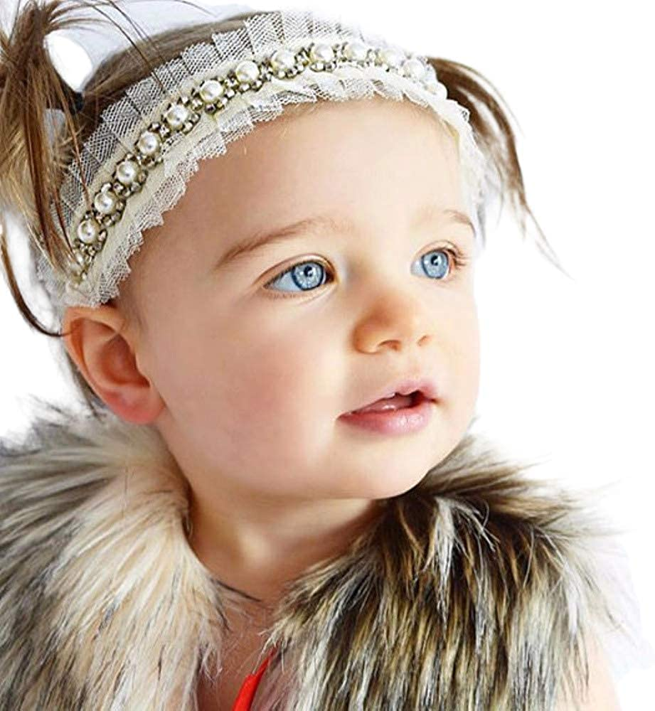 Yoriko Opening large release sale Baby Girl Super Elastic Toddler Cotton Headband 25% OFF Lace Hair