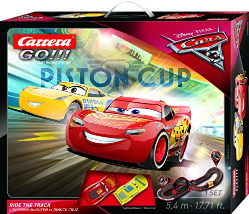 Carrera 20062422 - Go!!! Disney/Pixar Cars 3 - Ride The Track (Spielzeug)