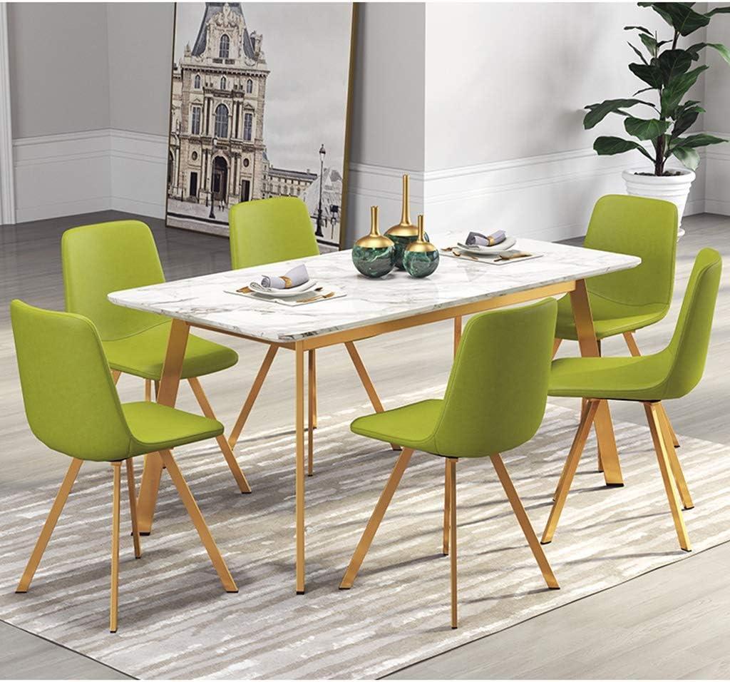 XXT Chaise de salle, Chaise de bureau simple, créative Dossier, Chaise Loisirs, Maison adulte Chaise de salle Durable (Color : Blue-B) Green-b