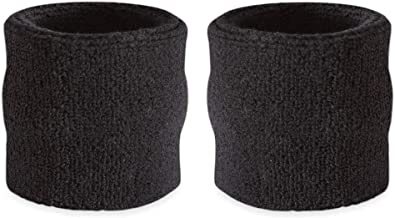 Pair of Wrist Bands (2 Wristbands) Black