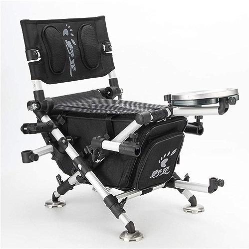 G-YL Chaise de pêche Pliante Camping Portable Loisirs de Plein air Ultra léger siège épaississement métal Fournitures de pêche Polyvalente, engins de pêche -1276