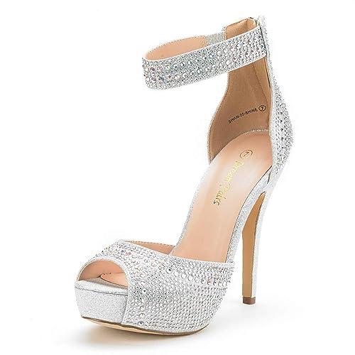 Silver Sparkly Heels Amazon Com