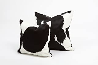 Best Black & White Genuine Cowhide Pillow Cover - 16x16 Inches or 20x20 Inches (20x20) Review
