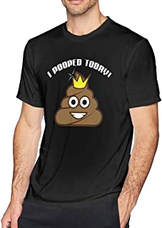 Yaruiguan Mens Soft Shirt Design with I Pooped Today Round Neck Short Sleeve Shirt