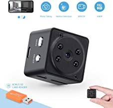 GXSLKWL 1080P Home Security Nanny Camera, Metal Housing Magnetic Body Mini Hidden Camera, Super Night Vision Portable Smal...