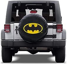 BDK All Weather DC Comics Snug Custom Fit Spare Tire Cover for Jeep Wrangler (1987-2019 JK, JL, CJ, YJ,& TJ) w/Elastic Band - Batman
