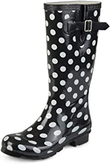 Journee Collection Womens Patterned Rubber Rain Boots
