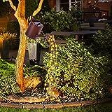 Gartendeko Solar LED Lichterketten, LED Gießkanne Solar gießkanne mit lichterkette 8 Modi Plastische Optik Gießkanne IP65 Wasserdicht für Garten Deko