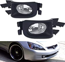 TC Sportline LA-HOAC0301CL-W OE Style Pair Clear Lens Front Bumper Driving Fog Lights Lamp with Switch Harness - For 2003-2005 Honda Accord Sedan 4 Door