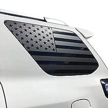 XPLORE OFFROAD - 4Runner | Precut USA Flag Window Decals | Matte Black American Vinyl for Rear Side Windows | Both Sides | 2010-2019 | Free Installation Tool … (2010-2019)