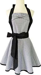 Soft Cotton Apron Halter Cross Bandage Aprons Retro Style X Shape Kitchen Cooking Clothes Gift for Women Chef Housewarming