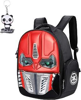 Mochila infantil 3D Transformers mochila impermeable para niño o niña, con luz de moda, creatividad, bolso bandolera de na...