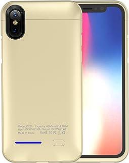 6ce5dcf2b72 iPhone X Funda Batería, LifeePro Ultra Slim 4000mAh Recargable Portátil  Externa Batería de Alta Capacidad