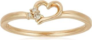 BLOOM 钻石 K10 黄金 心形 戒指