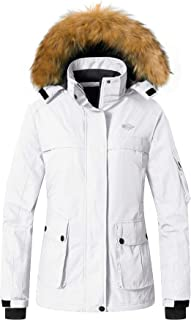 Wantdo Women's Warm Parka Mountain Ski Fleece Jacket Waterproof Rain Coat