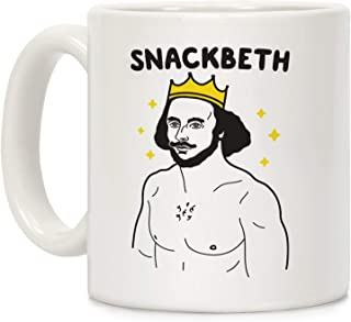 LookHUMAN Snackbeth White 11 Ounce Ceramic Coffee Mug