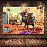 Grand Theft Auto V Game Poster Gta 5 Lienzo Impresión De Arte Pintura Cuadros De Pared Para La Decoración De La Habitación Decoración Del Hogar Decoración De La Pared Sin Marco Ku246 40X50Cm