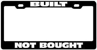 License Plate Frame Funny Humor, Aluminum Metal License Tag Holder, 2 Holes Car Plate Frame for US Standard