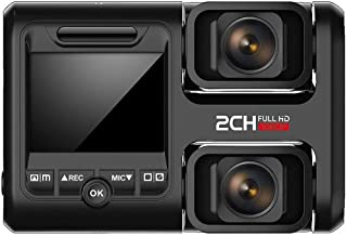 BCI Dash Cam Front and Rear Full HD - 1080P Front + 1080P Rear, Wi-Fi & GPS Built-in, Dual 170° Wide Angle Lenses, Loop Recording, Motion Detection, G-Sensor, Driver Fatigue, HDR / (New Model)