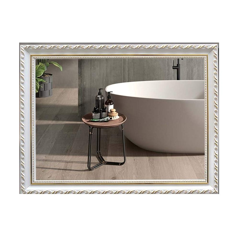 に対応する住居エロチックウォールミラー木製ボーダーHD化粧鏡寝室の化粧台ミラーシンプルなコーヒーショップホテル装飾的な鏡