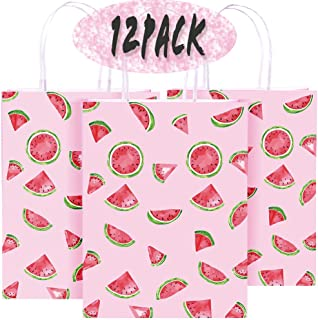 Watermelon Party Gift Bag - Watermelon Party Supplies Party Favors Fruit Theme Party Decorations - Candy Kraft Paper Treat...