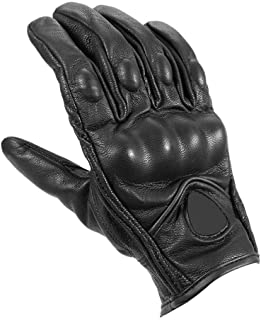 2019 Unisex Non-Perforated Gloves Motorcycle ATV Downhill Cycling Riding Racing Street Leather Windproof Warm Thermal Gloves Black L