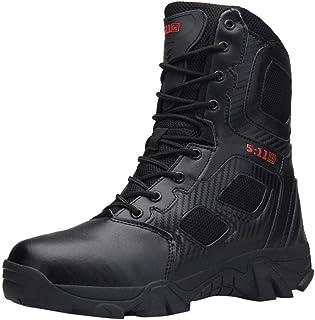 65de2bbf Zapatillas de Hombre de BaZhaHei Botas Militares y cómodas Botas Zapatos de  Hombre Antideslizantes Resistentes al
