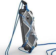 XPORTER EX スポーツ用ストラップ・ホルダー for スマートフォン with センターカメラ ランニング・ジョギング・サイクリングに最適 (クリア&ブルー)