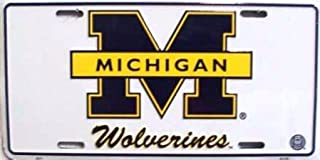 University of Michigan Wolverines COLLEGE LICENSE PLATES Plate Tag Tags auto vehicle car front