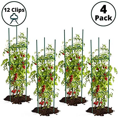 Bryco Goods Large Tomato Cages for Garden - 4 P...