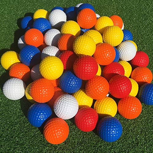 SkyLife Multicolor Golf Practice Balls 40 Count, Soft Golf Foam Balls for Indoor Outdoor Backyard Training (Multicolor 40pcs)