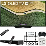 LG OLED65B9PUA B9 65' 4K HDR Smart OLED TV with AI ThinQ (2019) Bundle with Deco Gear Home Theater Soundbar, Flat Wall Mount Kit, Wireless Keyboard and 6-Outlet Surge Adapter with Night Light