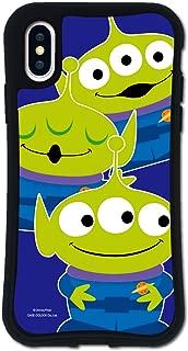 iPhone X ケース iPhone XS ケース どこでもくっつくケース WAYLLY(ウェイリー) アイフォンXケース アイフォンXSケース 着せ替え 耐衝撃 米軍MIL規格 [WAYLLY/トイ・ストーリー エイリアン] セット MK