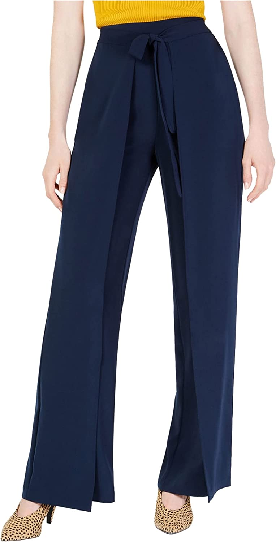 bar III womens High Waist Wide Leg Pants