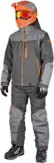 FXR Mens Elevation Lite Dri-Link 2pc Monosuit (Charcoal/Grey/Orange, Large)