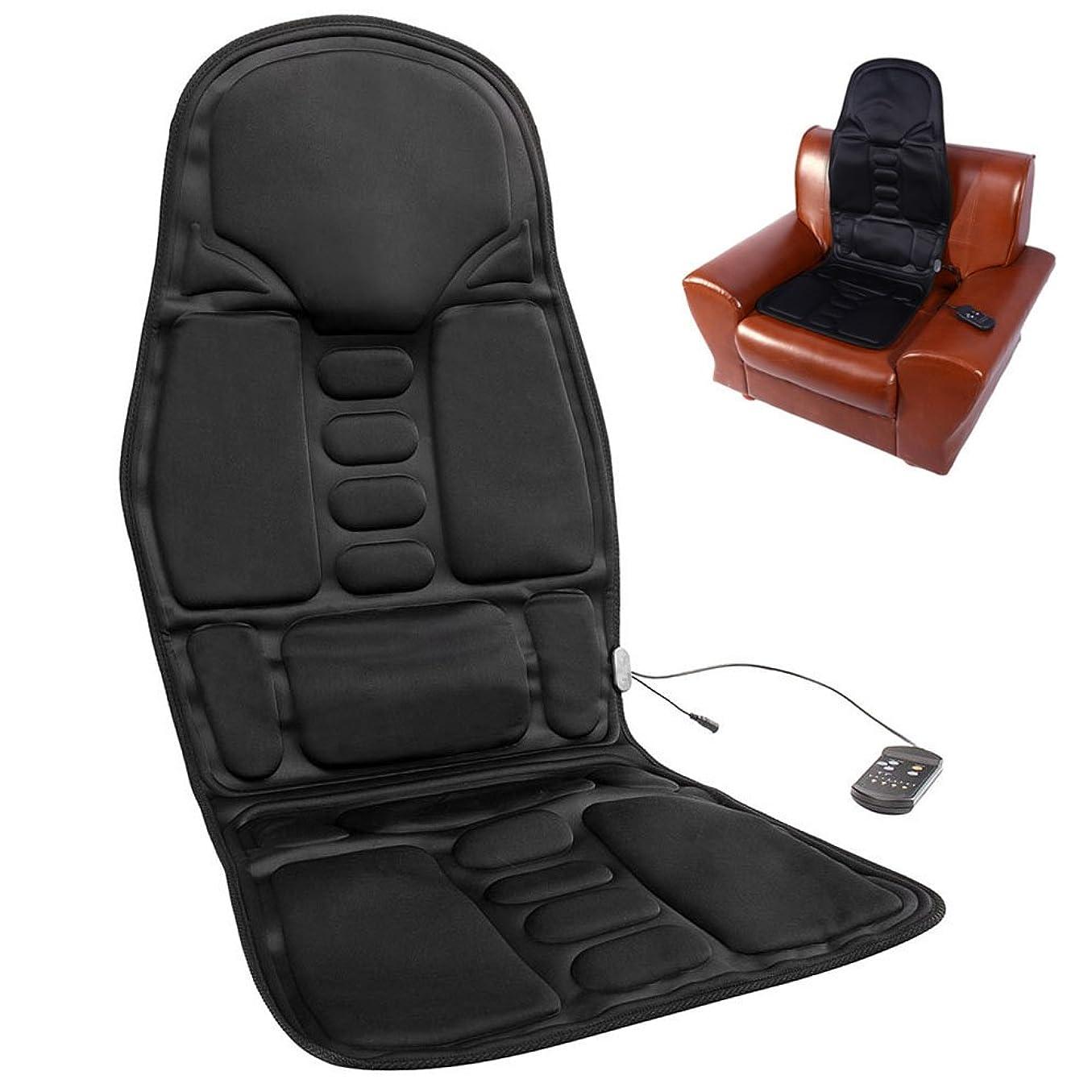 平らな適合しました減少seacan マッサージシート カーシートカバー 高品質PUレザー製車載用ツインバードマッサージシート ヒーターマッサージ 5機能5もみ玉付き ホーム車シート椅子汎用 オートオフタイマー内蔵 伸縮ストラップ付 椅子や座椅子用 持ち運び便利 取り付け簡単