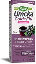 Nature's Way Umcka Elderberry Intensive Cold Plus Flu Syrup, 4 oz (Packaging May Vary)