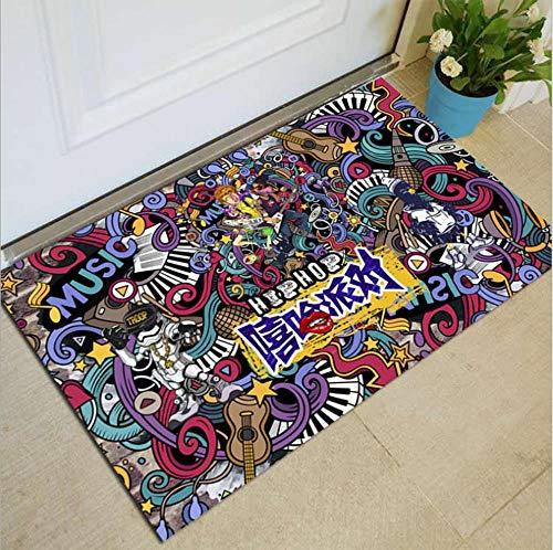 Huishoudelijke vloermatten deurmatten antislip fabrikanten groothandel geschenken cartoon geometrische eenvoudig tapijt A 80x100cm