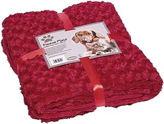 "Nobby Fleece plaid ""SUPER SOFT"" rood M 100 x 150 cm"