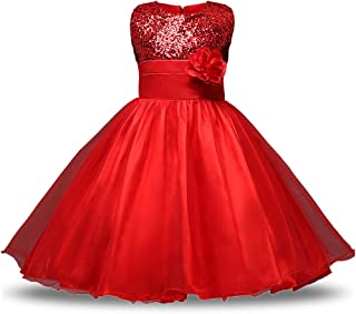 XFentech ガールズ 子供ドレス キッズドレス ワンピース 女の子 ノースリーブ プリンセスドレス