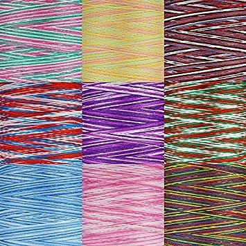Multicolor Bauschgarn Nr va101 1000m mehrfarbig rosa//grün//weiss