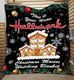 Hallmark Christmas Movie Watching Blanket- [Made in Vietnam] - Personalized X-Mas Plush Blanket Soft for Couch Sofa (47x35, 60x45, 70x53, 80x60 Inches)