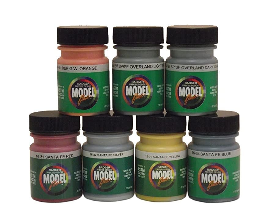 Badger Modelflex Airbrush Paint-West Coast Railroad Set#1