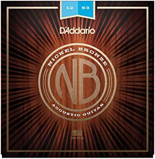 D'Addario NB1047Corde de guitare acoustique Extra Light Nickel/bronze Pack of 1