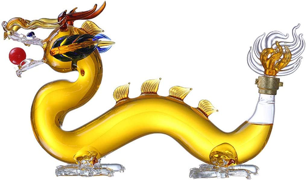 DONGSHUAI 1000~2500Ml 2021 Dallas Mall autumn and winter new Whiskey Decanter Decant Set Shaped Dragon