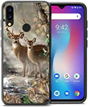 for Umidigi Power Case, ABLOOMBOX Shockproof Slim Thin Soft Flexible TPU Silicone Protective Cover for Umidigi Power Hunting Camo Camouflage Deer in forest